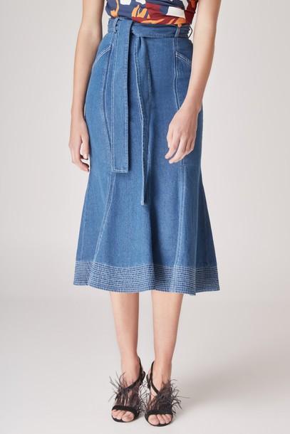 C/MEO COLLECTIVE skirt midi skirt midi blue