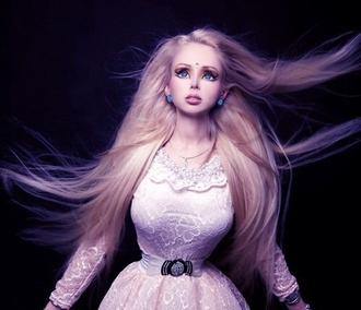 dress cream chic sleeve barbie princess valeria lukyanova gorgeous spring be elegant fancy promprincess slim waist human barbiegirl