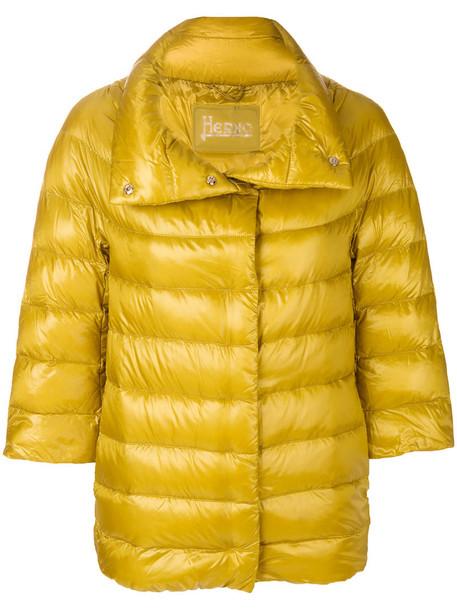 Herno jacket puffer jacket women cotton yellow orange