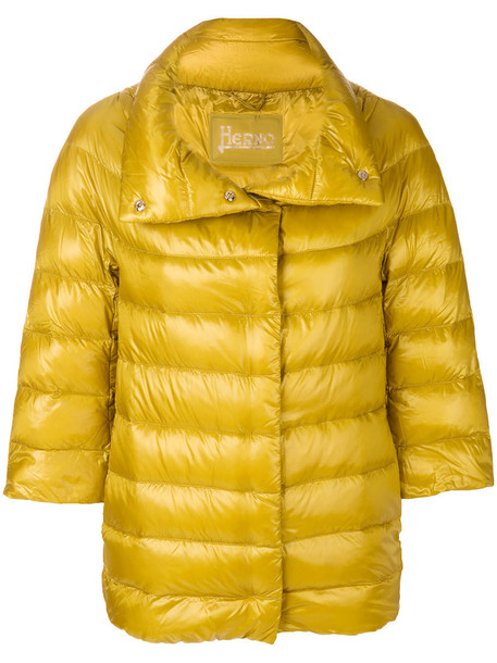 jacket puffer jacket women cotton yellow orange