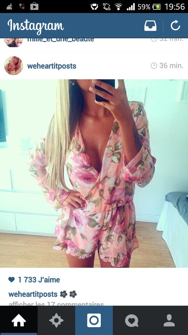 blouse rose fluide ?t? fleurs