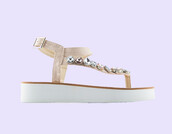 shoes,nude sandals,nude,beige sandals,embroidered,embroidered shoes,embellished,embellished sandals,jeweled sandals
