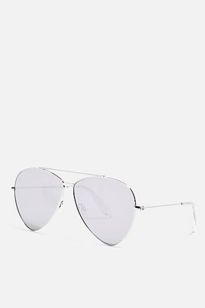 TopShop Drop Lens Sunglasses - Silver