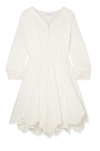 APIECE APART - Vereda Broderie Anglaise Cotton-voile Mini Dress - Off-white
