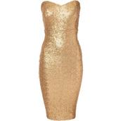 dress,gold sequins,midi dress,bandeau,bodycon dress,boobtube,gold,bodycon,sparkly dress,mini
