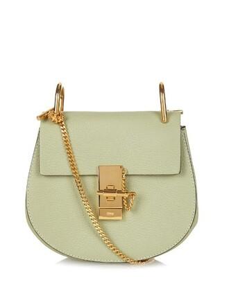 cross mini bag leather light green