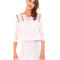 Vestido blanco bordado étnico de blend she