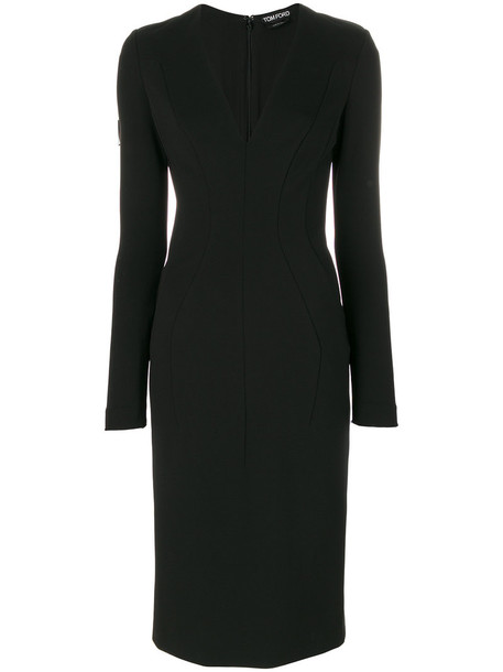 Tom Ford dress midi dress women midi spandex black silk