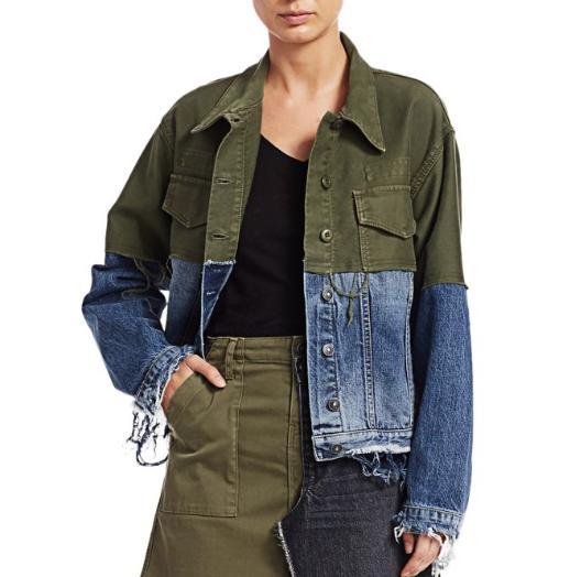 Hudson Jeans Twill-Combo Denim Jacket