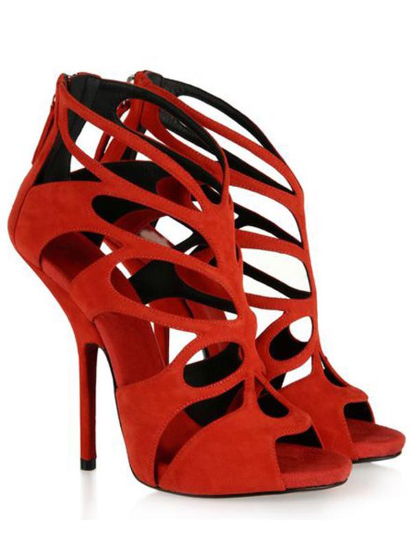 Shoes heels pumps fish head sandals wheretoget for Fish head shoes