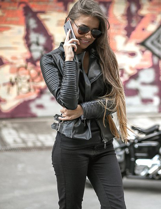 jacket sexy baseball jacket leather jacket black jacket down jacket chanel style jacket leather black girly women girly wishlist hipster wishlist hipster rock tumblr tumblr outfit tumblr girl tumblr clothes outfit outfit idea fall outfits winter outfits date outfit cute outfits office outfits trendy streetwear streetstyle