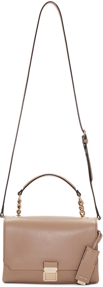 bag shoulder bag leather nude