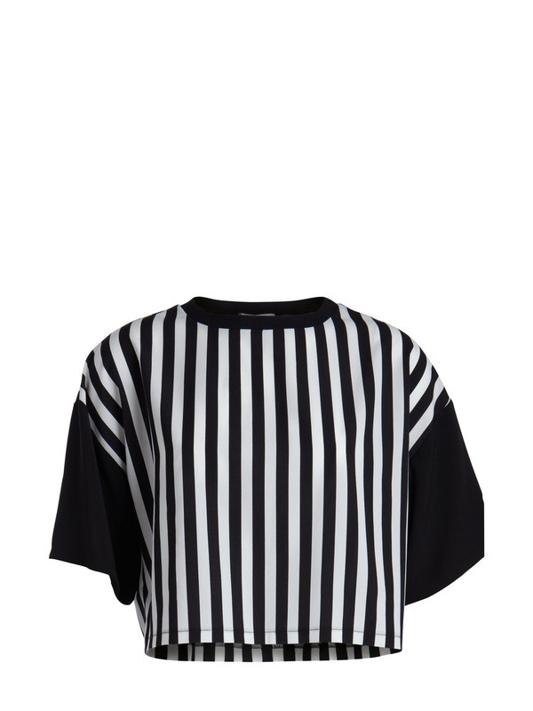 t-shirt striped crop t-shirt