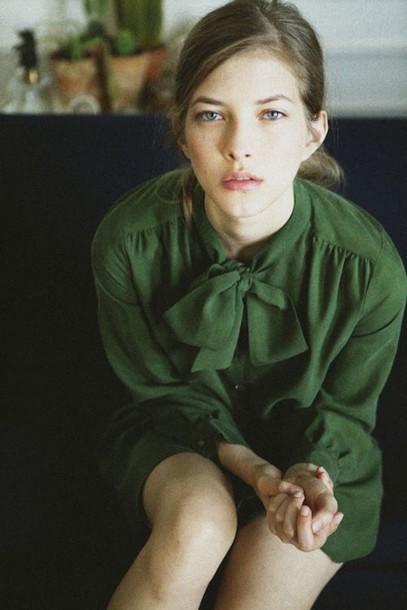 blouse green blouse