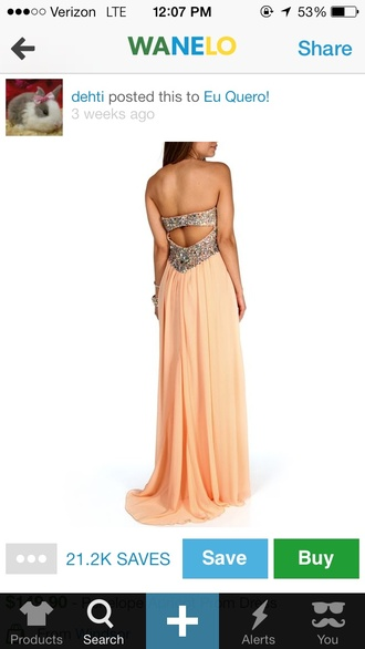 dress cream color prom dress sequins silver silver sequins pretty long prom dress long dress peach dress peach color multicolor