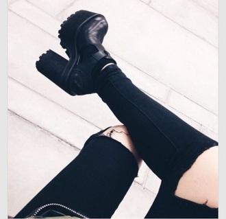 shoes style t-shirt shorts hipster bikini black heels platform boots sunglasses summer dress rock jacket pants jeans black jeans black pants black high waisted pants