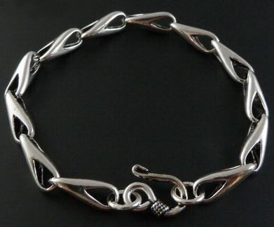 Tibetan Handmade Sterling Silver Longevity Bracelet - Wishbop.com