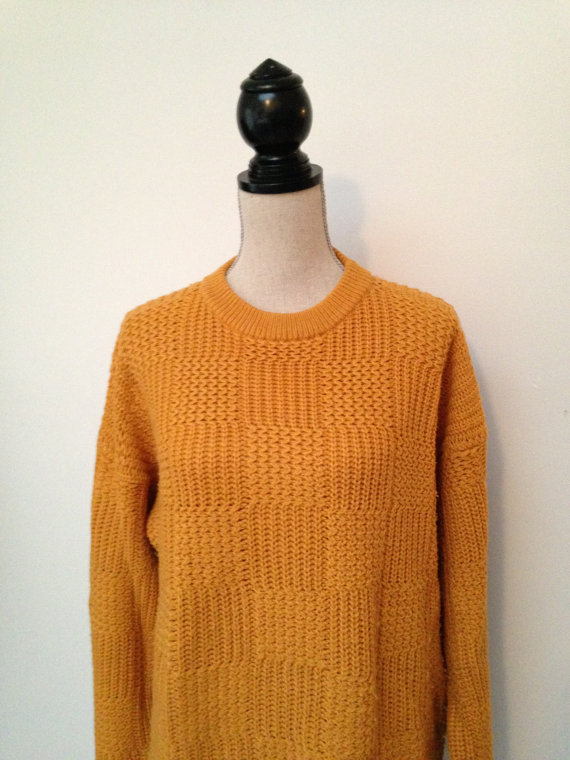 Harbour Classics Mustard Yellow Oversized Knit Sweater