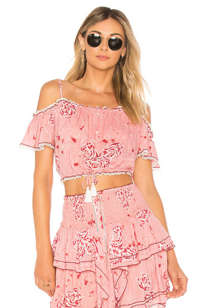 Poupette St Barth blouse pink top