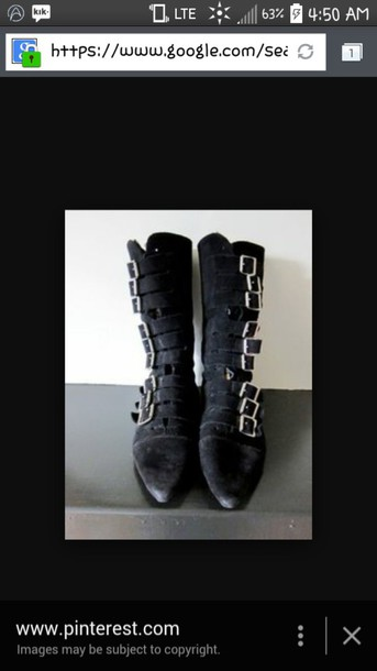 shoes goth shoes black shoes buckles pointed toe gothic boots