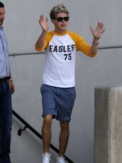 shirt,clothes,eagle,75,eagles75,yellow,white,niall horan