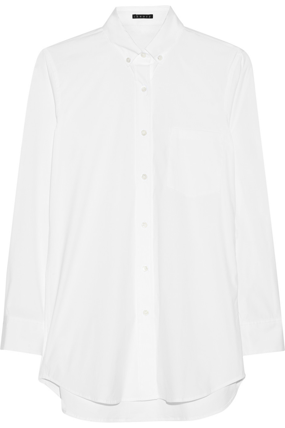 Theory Macina cotton-blend shirt – 55% at THE OUTNET.COM