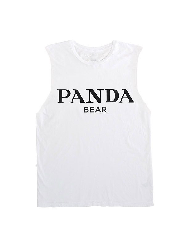 Panda bear vest top