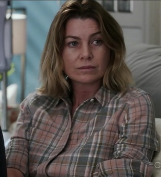 shirt grey's anatomy meredith grey ellen pompeo plaid plaid shirt