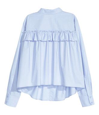 blouse ruffle blouse