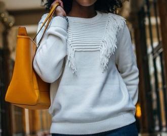 fringes style fashion sweater