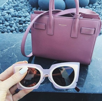 sunglasses kylie jenner jewelry saint laurent pink bag dusty pink