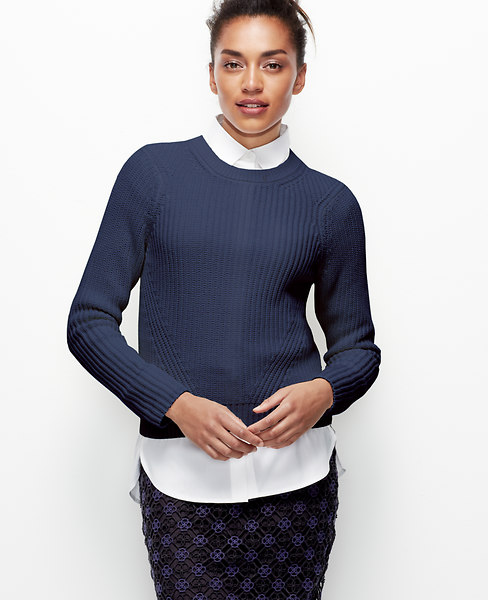 Cropped Stitchy Pullover