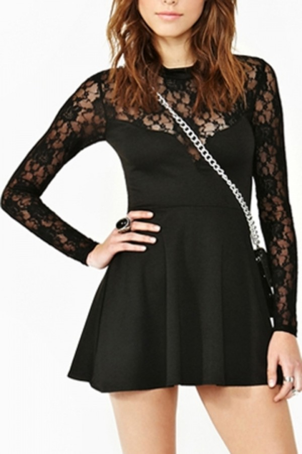 dress persunmall black dress lace dress lace persunmallcom