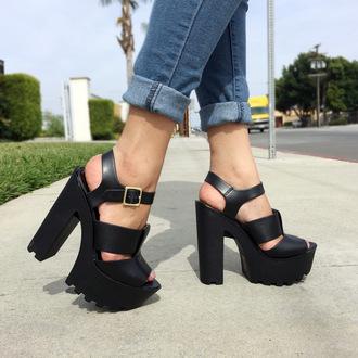 shoes cicihot heels high heels lug sole heels cute heels fashion sexy cute chic boho