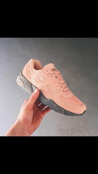 shoes grey pink women shoes puma shoes puma trinomic girls sneakers