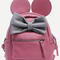 Pink contrast bow backpack -shein(sheinside)