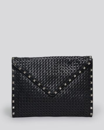 Rebecca Minkoff Envelope Clutch - Wicker Woven Owen | Bloomingdale's