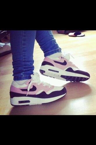 shoes nike air max 1 36 rose blanc