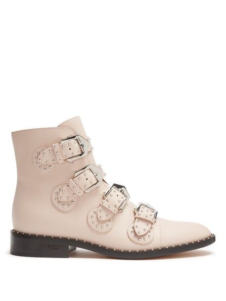 Givenchy leather ankle boots studded elegant ankle boots leather light pink light pink shoes