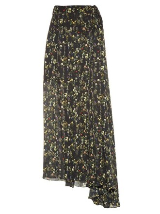 skirt floral print black