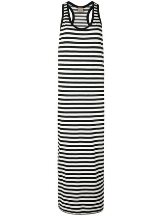 dress striped dress women cotton black