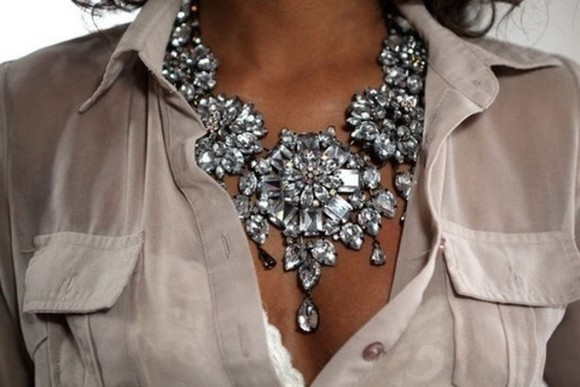 classy jewels necklace statement necklace glamour