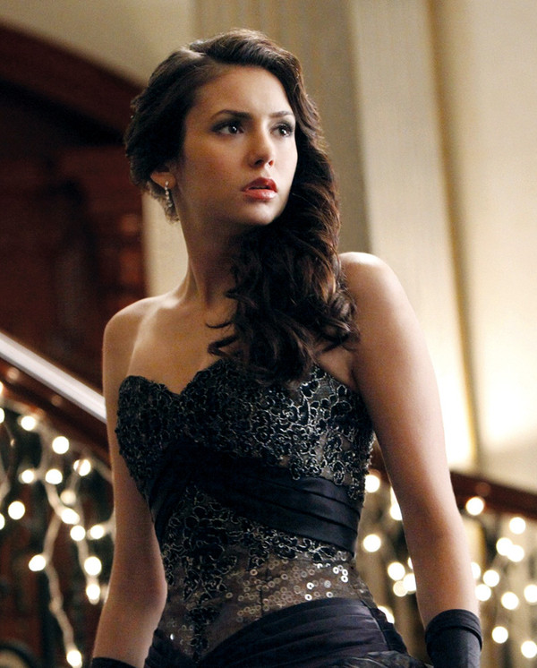 dress nina dobrev the vampire diaries glitter dress elegant dress