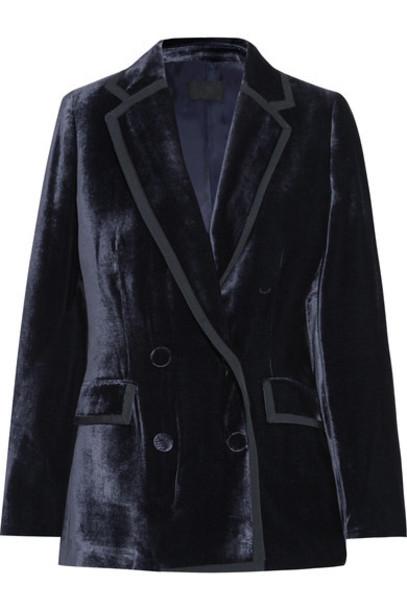 J.Crew blazer navy velvet jacket