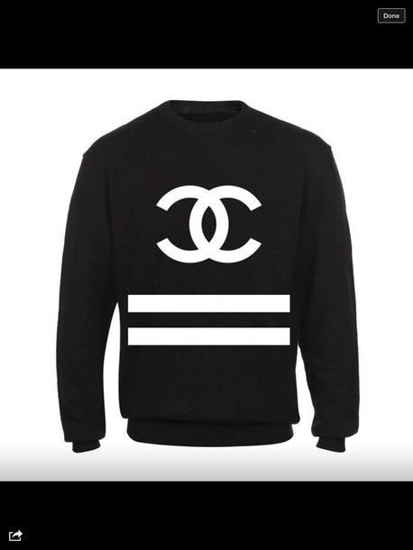 sweater chanel chanel celebrity style coco chanel sweater slogan jumper