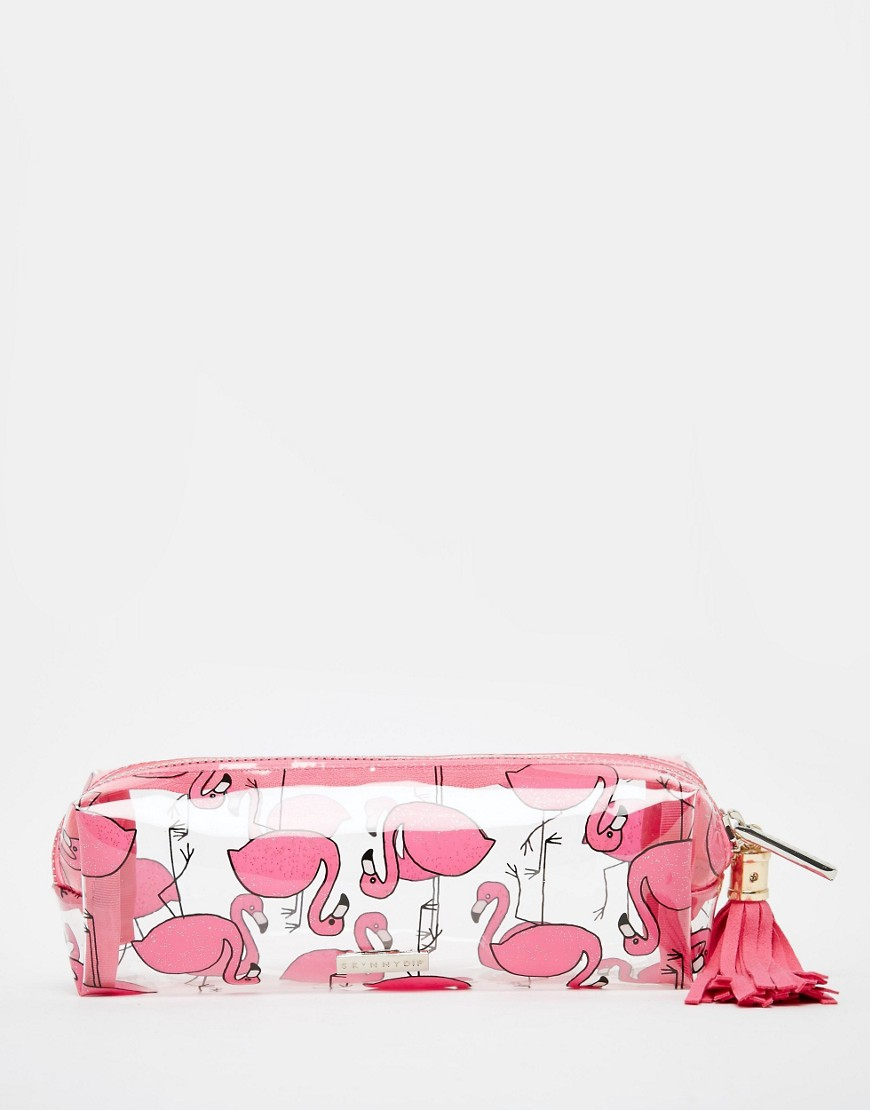 Skinnydip Flamingo Pencil Case at asos.com