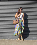 Vintage Carla Silk Printed Skirt | Eco Fashion Ethical Fashion EKOLUV Eco Boutique