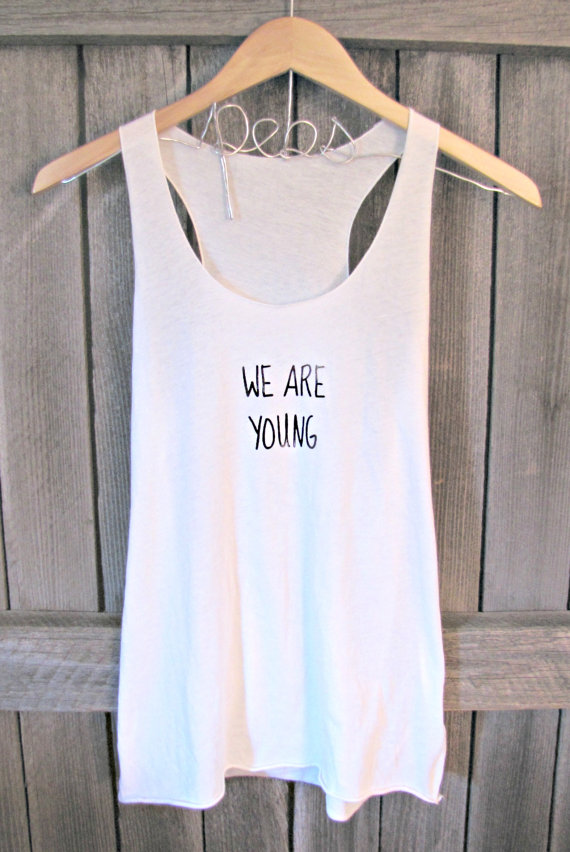 Free shipping backorderwe are young hipster tank par pebbyforevee
