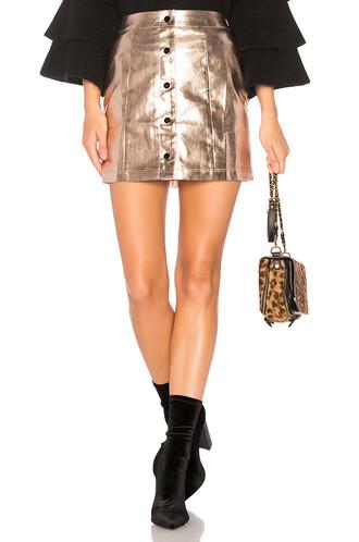 skirt shiny rose