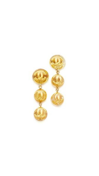 ball earrings gold jewels